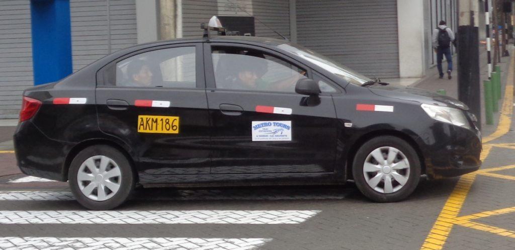 Taxis in Peru
