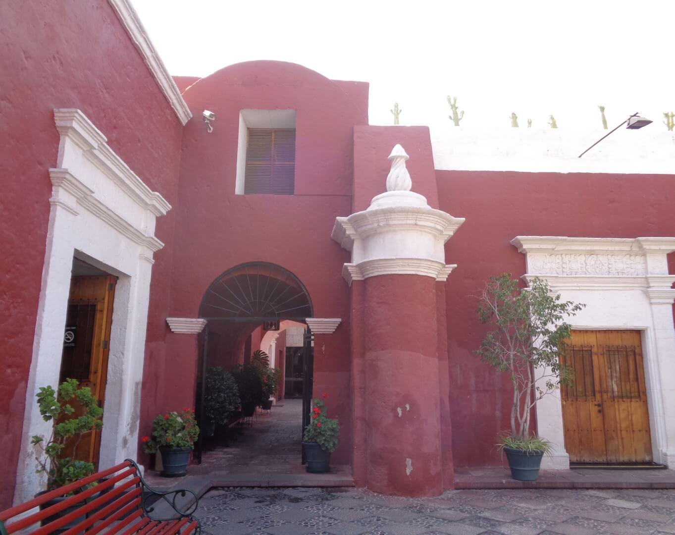 Courtyard of the Museum Santuarios Andinos