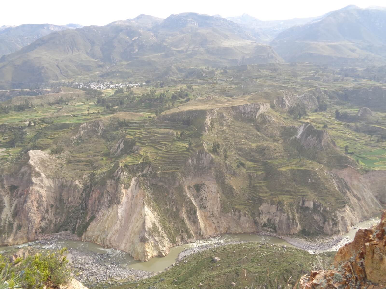 Colca valley and Colca river