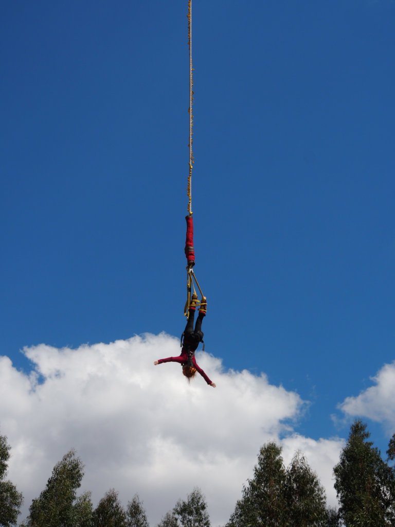 Bungee Jumping in the Peruvian Andes