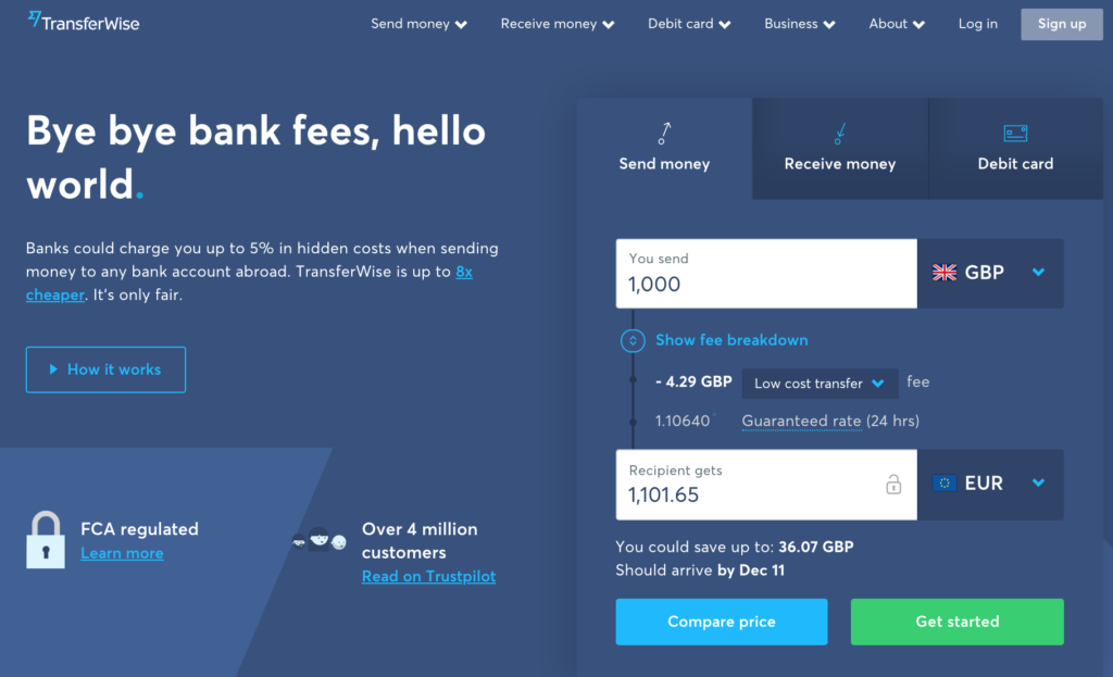 TransferWise Borderless Account