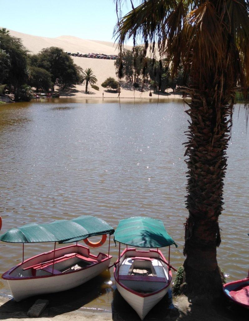 Boats Huacachina Lagoon
