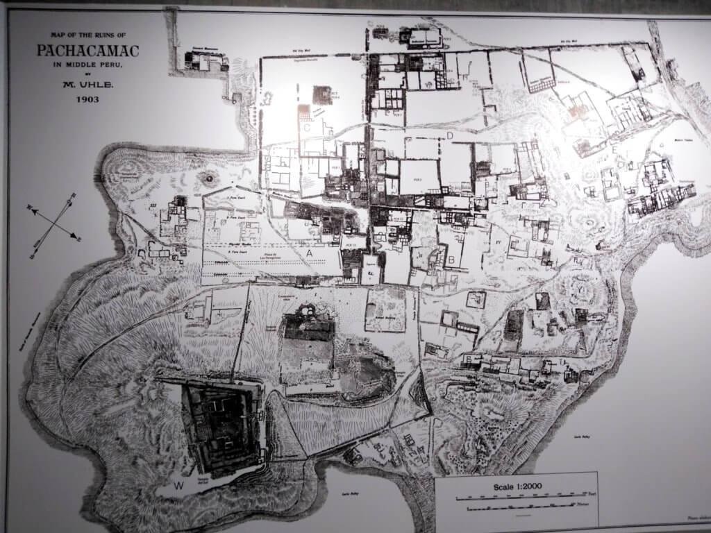 Pachacamac map