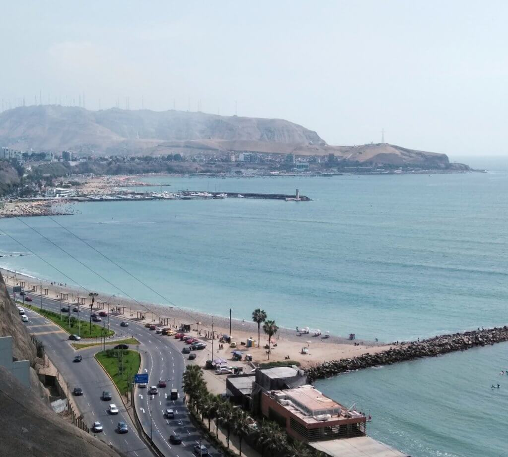 Ocean view from Barranco, Lima