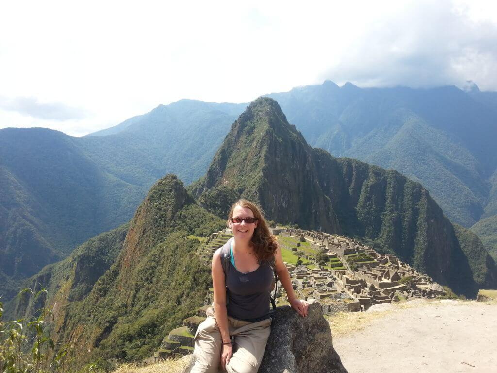 Claire at Machu Picchu