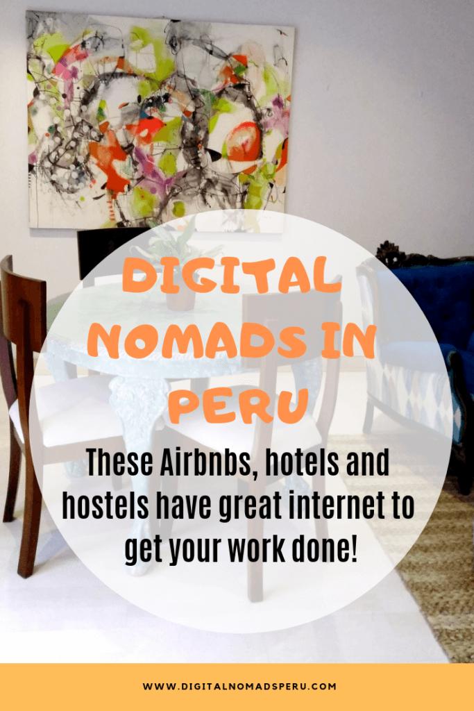 Digitalnomad-friendly accommodation in Peru