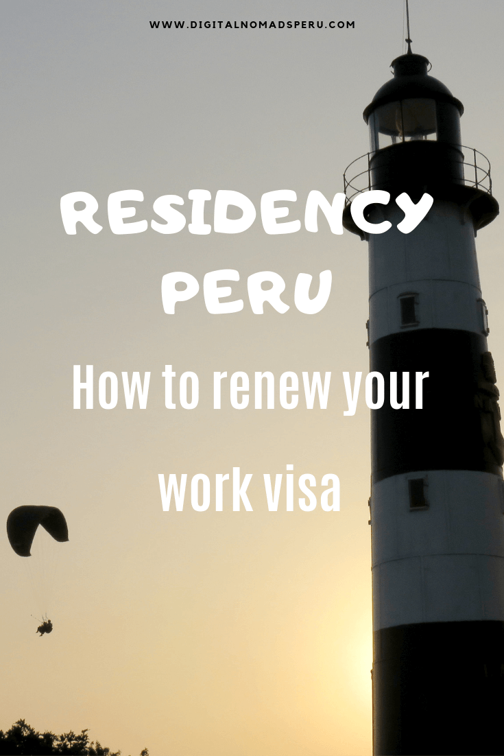 How to renew a Peruvian work visa