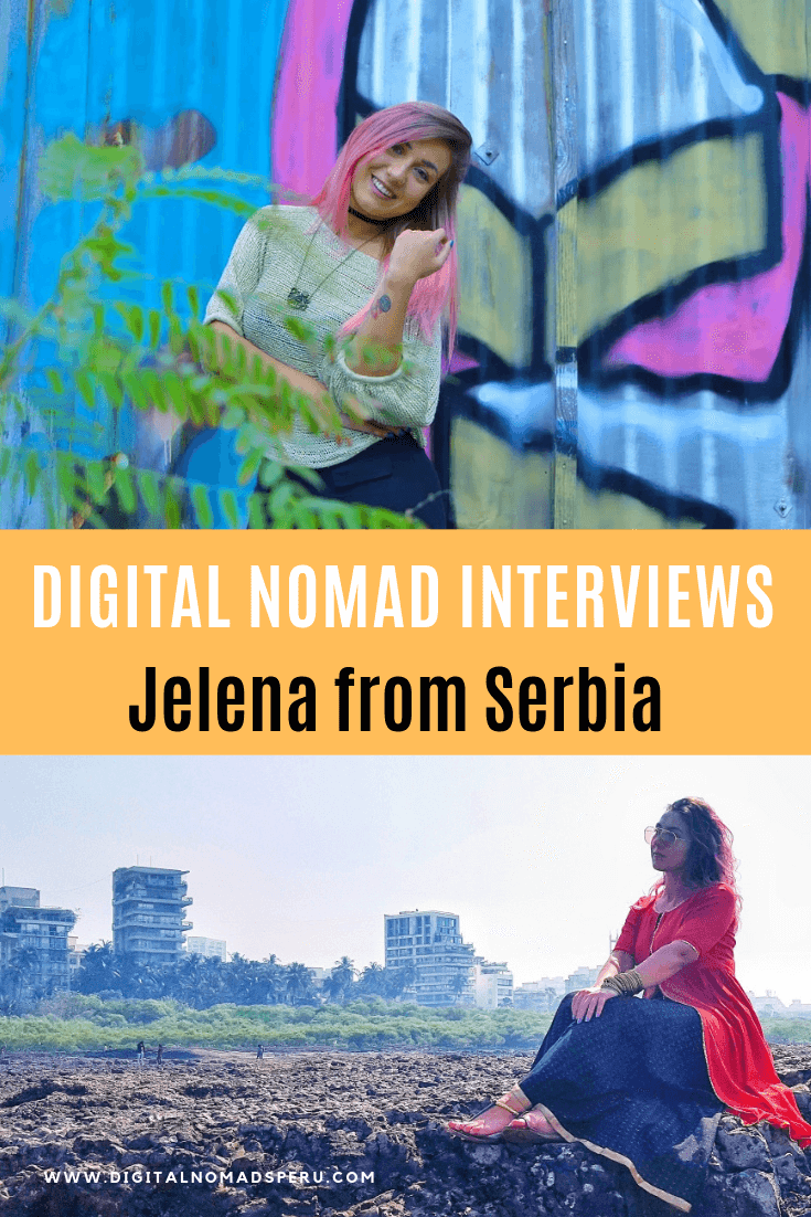 Digital Nomad Interviews Jelena from Serbia pin